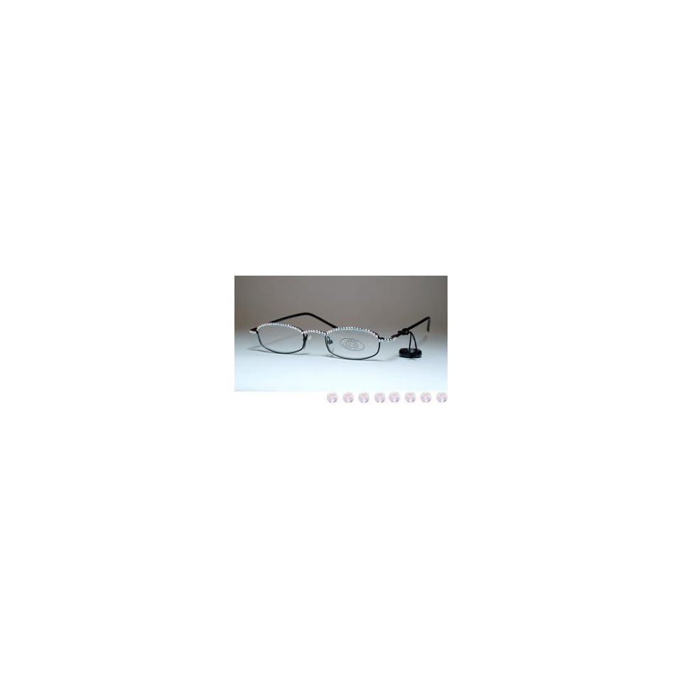 12335611631c Gl180 7 Jimmy Crystal Swarovski Reading Glasses Aurora Boreale +1.75 ...