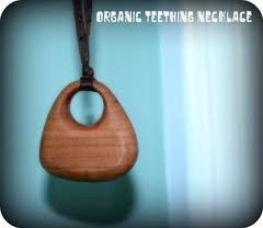 Organic Wooden Teething Necklace for Mom, Modern from Re-Wood Toys