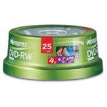 MEMOREX DVD-rw media 4x spindle 25-pk
