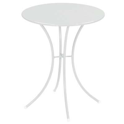 Emu 309050100 Pigalle Tisch 905, ø 60 cm, pulverbeschichteter Stahl, weiss glänzend