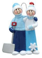 Personalized Snow Family of 3 Christmas Ornament