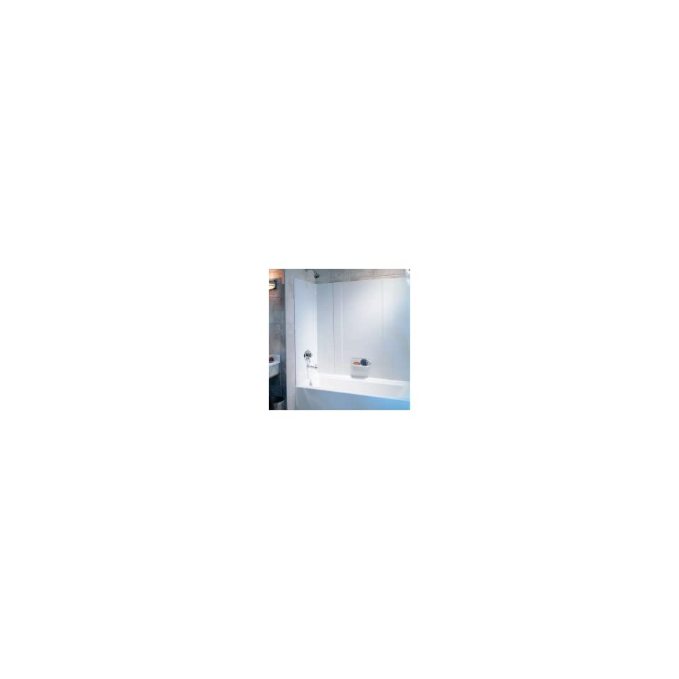 White Finish Swanstone RM-58-010 High Gloss Tub Wall Kit