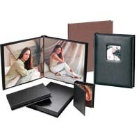 Flora Superior Series, Self Adhesive Album, Chocolate Cover with Black Pages, 10 Page Capacity Holds 20 4
