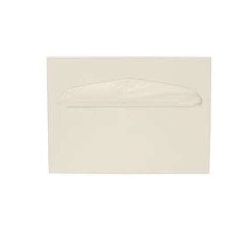 Health Gards Toilet Seat Cover Dispenser Half-Fold White, Metal, Wall Mounted, Hospeco® TSC-1W