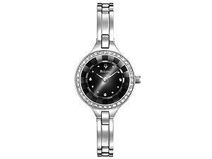 Bulova 96L178 Ladies Semi Bangle Links Bracelet Watch