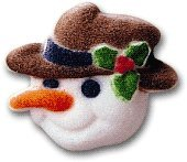 Christmas Snowman Head Edible Cake, Cupcake Decorations 12pack
