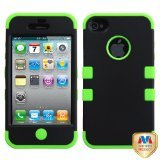 Product B008DJH7R4 - Product title MYBAT IPHONE4AVHPCTUFFSO007NP Premium TUFF Case for iPhone 4 - 1 Pack - Retail Packaging - Black/Electric Green