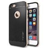 iPhone 6 ケース Spigen [ リアル アルミニウム バンパー] ネオ・ハイブリッド メタル iPhone 4.7 (2014) (国内正規品) (シャンパン・ゴールド 【SGP11038】)