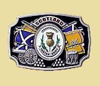 Scotland Twin Flag Belt Buckle