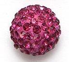 Bijoux By Me 12mm Pflaster-Fimokristallset Shamballa Armbandperlen - DIY Schmuckmachen Himbeere 4 Stück