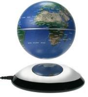 MagicFloater FU 203: Magnetschwebeglobus der neuen Generation. Permanent langsam rotierender und frei schwebender Globus. Schwebehöbe ca. 30 mm