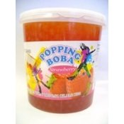 Strawberry Popping Boba (Four 7-Lbs Tubs) *Case*