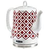 BELLA 14102 Ceramic Kettle, Red