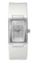 Calvin Klein New Dress K5923138 - Reloj de mujer de cuarzo, correa de piel color blanco