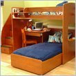 Berg Furniture Utica Loft Twin Over Twin Bunk Bed with Storage Stairs Bedro ....