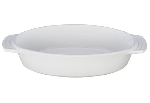 Le Creuset Stoneware Oval Dish, 1-Quart, White (1quart Baking Dish compare prices)