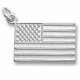 Rembrandt Charms American Flag Charm