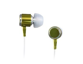 Metallic Whf-085 In-Ear Stereo Metal Earphone With Remote Mic 3.5Mm Jack For Iphone 4 Pc Mp3 Mp4 (Green)