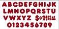 "Trend Enterprises Sparkle Casual Ready Letters, 72 per Package, 4"", Red (T-1614)"