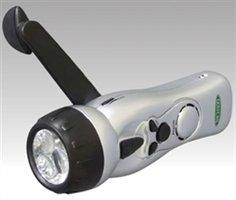 日動:手巻式充電LEDライト LEH-3P-CH [その他]