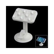 360 Degree Rotation Car Suction Cup Stand Holder Mount Bracket for GPS / Cell Phone - White White