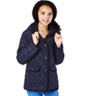 Hooded Quilted Car Coat with Stormwear™