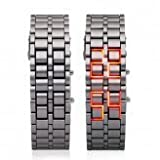 Red Led Digital Lava Iron Style Metal Sports Watchby Accenter