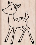 "Hero Arts Mounted Rubber Stamps 1.5""X2""-Young Deer Mounted Stamp - 1"