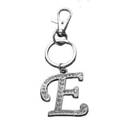 The Olivia Collection Initial E Large Crystal Cz Keyring