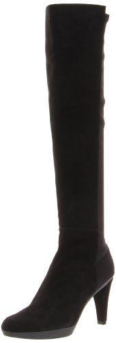 Stuart Weitzman Women's Demi Boot,Black Suede,10.5 M US