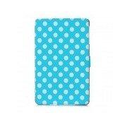 Polka Dot Pattern Protective Wake-UP/Sleep Case w/ Card Slot for Ipad MINI - Blue + White