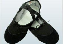 [Black] campus ballet shoes toe leather 18 cm-25 cm (23 cm)