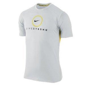54e71277 Nike Men's Livestrong Dri-Fit Running T-Shirt White 418463-101