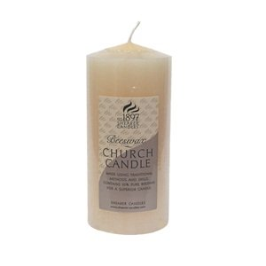 Small 6 - Beeswax Pillar Church Candle - Shearer Candles by Shearer Candles