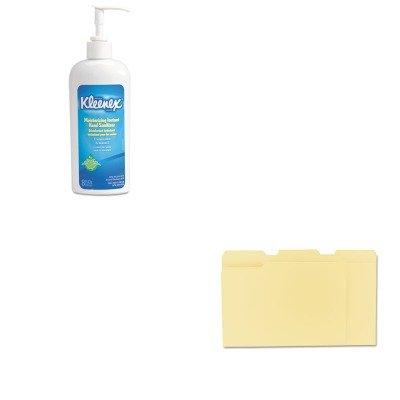 Kitkim31294Unv12113 - Value Kit - Kimberly Clark Kleenex Moisturizing Instant Hand Sanitizer (Kim31294) And Universal File Folders (Unv12113) front-990813