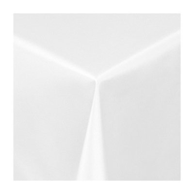 """Damast Tischdecke Maßanfertigung im """"Uni-Design"""" in weiss 150 cm breit, Länge wählbar von Texmaxx - Gartenmöbel von Du und Dein Garten"""