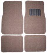 Front & Rear Carpet Car Truck Suv Floor Mats - Dark Beige Front & Rear Carpet Car Truck Suv Floor M front-545063