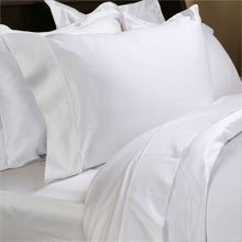 Two-LUXOR-800 TC Pillow Cases-White Solid - Egyptian Cotton Set -- Size: standard