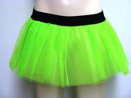 Uv Green Tutu Skirt Basic Party Emo Dance Rave Hen front-44665