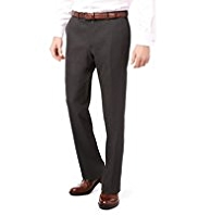 Crease Resistant Flat Front Slim Fit Trousers