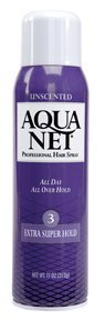 Aqua Net Extra Super Hold Unscented Aerosol Hair Spray-11 oz
