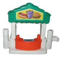 Fisher Price Little People Circus Amusement Park Doscovery Village Replacement Fence Booth Food Stand OOP - 1