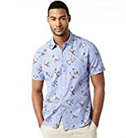 North Coast Pure Cotton Slim Fit Surfer Print Shirt