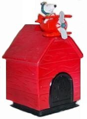 Peanuts Snoopy Red Barron Dog House Bank and Fan Pull