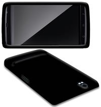 BLACK SOFT SILICONE CASE COVER FOR DELL STREAK + FILM