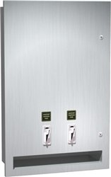ASI 04684 | American Specialites Dual Napkin and Tampon Dispenser