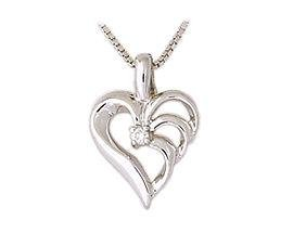 Triarch Diamond Heart Pendant