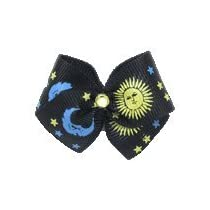 Puppy Kisses Starry Dog Hair Bow - Metal barrette closure Made with SWAROVSKI ELEMENTS