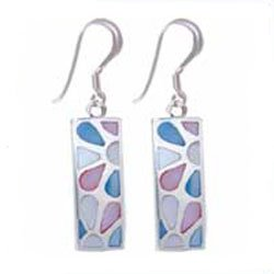Clearly Charming Mother of Pearl Bar Sterling Silver Earrings, available at Amazon.com.