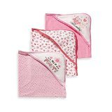 Gerber 3-pack Terry Hooded Towels in Pink - 1